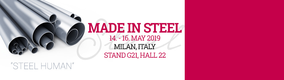 MADE IN STEEL 2019, Milan, ITALY